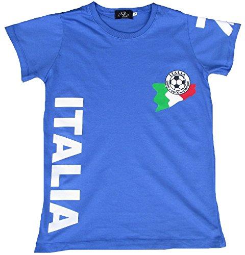 Ticila Damen T-shirt blu Miss Italia Italia FORZA squadra azzurra azzurri Calcio WM EM maglietta Blau 44