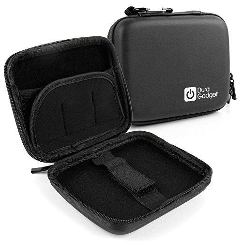 DURAGADGET Coque étui Rigide Noir pour Appareil Photo Canon PowerShot G7 X Mark II et SX720 HS, Sony ILCE-5000L / 5000YB et Cyber-Shot DSC-HX90 + Clip d'attache détachable