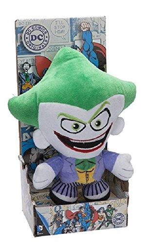 DC COMICS - Peluche con caja del personaje 'Jocker' el héroe de la película, dibujos y cómics 'JOCKER' (18cm) - Calidad super soft