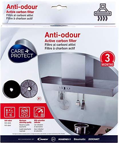 Hoover CARE + PROTECT Filtres de Hotte à Charbon Actif Anti-odeur Compatibles type 178
