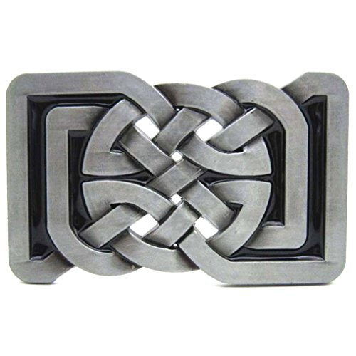 MASOP Square Keltic Celtic Knot Belts Buckle Rectangle Vintage Medieval Gifts
