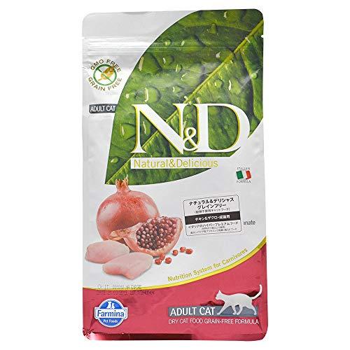 Katzenfutter Trockenfutter N&D Huhn & Granatapfel, Getreidefrei - Natural & Delicious Farmina (1500 Gramm)