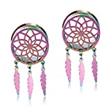 TBOSEN 2PCS Tunnels and Plugs For Ears Stainless Steel Stretcher Multiple Expander Tunnels Gauges 0g-1'' in 8mm-25mm