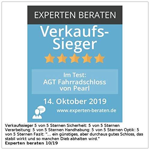 AGT Fahrradschloss: Fahrrad- & Motorrad-Kettenschloss, 6-mm-Kette, spezialgehärtet, 90 cm (Motorradschloss) - 4