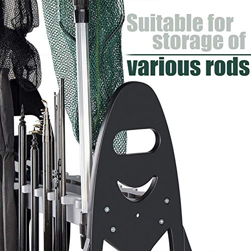 Angeln Rutenständer für 16 Ruten Plastik Rutenablage Ruten Rack - 4