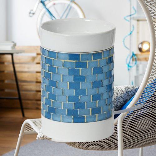 Yankee Candle Quemador de esencias eléctrico, color azul brillante