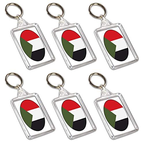Schlüsselanhänger mit Sudan-Flagge – Partytütenfüller – Veranstaltungen – Feiern – Sammler – Dekorationen – Sockenfüller (12 Stück)
