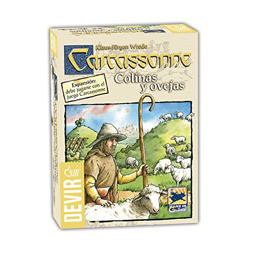 Devir - Carcassonne Colinas y Ovejas, Juego de Tablero (BGCOVE)