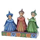 Disney Invitados Reales-Figurina de Las Hadas Flora, Fauna y Serena, Resina, Multicolor,...