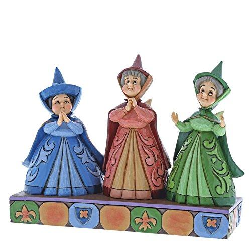 Disney Invitados Reales-Figurina de Las Hadas Flora, Fauna y Serena, R