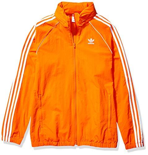 adidas Originals Men's BLC Superstar Windbreaker Jacket, Orange, Large