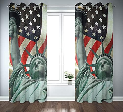 Tex family Cortina cortina cortina City confeccionada 140 x 290 cm América Estatua de la Libertad