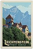 GYJDD Leinwandbild Vintage Reise Poster Liechtenstein