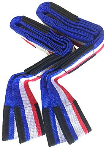 Tragegurt 2-Personen Transportgurt für Möbel und Umzug, Tragehilfe 2-tlg, Hebegurt bis 300 kg, Blau-Weiß-Rot