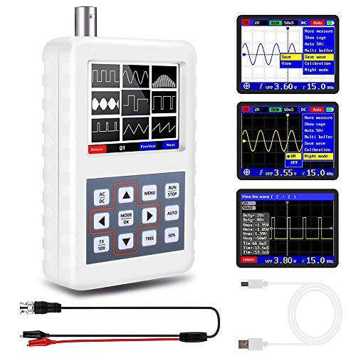 DSO FNIRSI PRO Handheld Oscilloscope 2.4' TFT LCD Portable Digital Oscilloscope 5MHz Bandwidth 20MSps Sampling Rate Support Waveform Storage