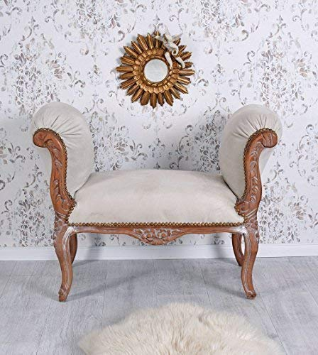 Sitzbank Barock Hocker Chaiselongue Samtbezug Sitzhocker kleines Sofa Palazzo Exklusiv