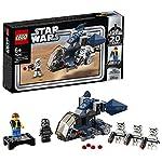Include 5 minifigure LEGO Star Wars per un gioco creativo: 3 Stormtrooper, uno Shadow Trooper e Han Solo del 20esimo anniversario su un espositore staccabile Contiene una Imperial Dropship giocattolo con cabina di pilotaggio apribile per lo Shadow Tr...
