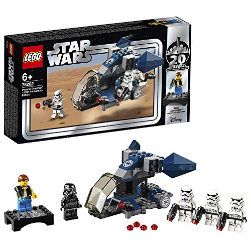 LEGO 75262 Star Wars Imperial Dropship-20th Anniversary Edition Set, Microfighter with Bonus Han Solo Minifigure, Colourful
