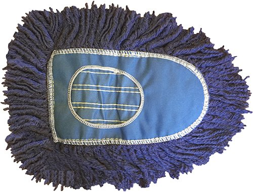 Triangle Dust Mop Heads-6 Pack-Blue