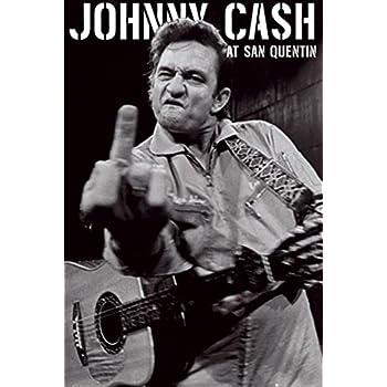 Johnny Cash Gives Finger Poster