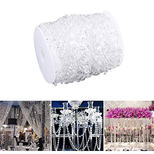 WYANG kristallen parels 30 m slinger, diamant hangende parels acryl gordijn voor bruiloft ramen schermen party DIY decoratie club decoratie