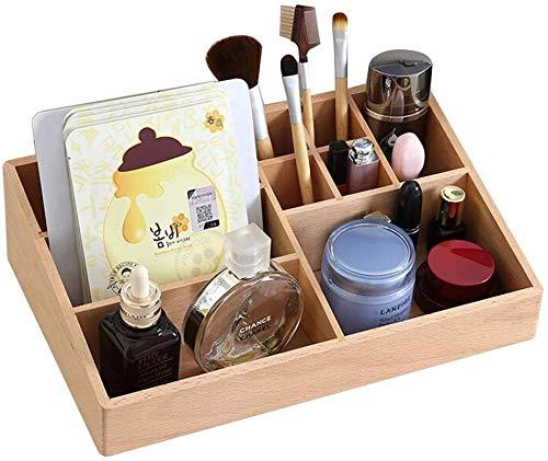 Maquillage Organisateur, Boîte De Rangement/Hêtre/Multi-usage/Durable/Grande Capacité/Pour Vernis À Ongles