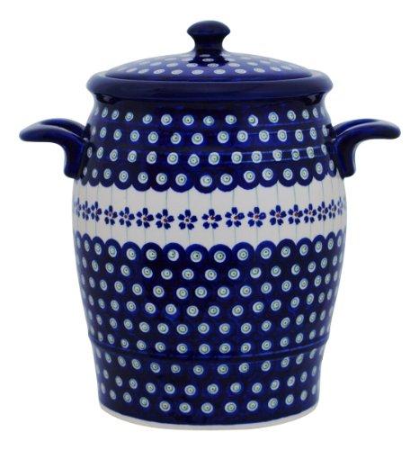Original Bunzlauer Keramik Rumtopf 4.2 Liter/Mehrzwecktopf/Keramiktopf im Dekor 166a