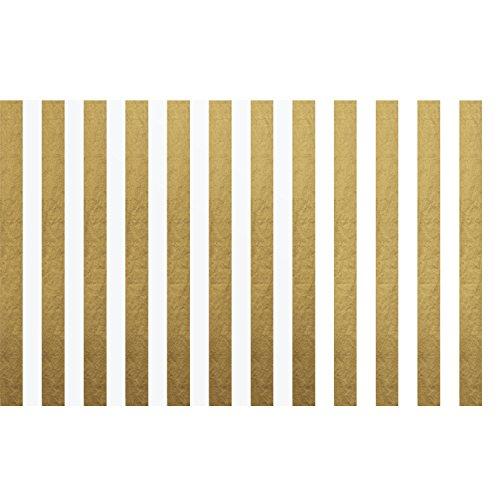 Papel de Seda de Rayas Papel de Embalaje, 28 Pulgadas por 20 Pulgadas, 30 Hojas (Dorado y Blanco)