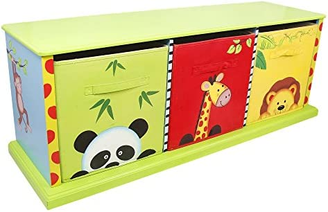 Fantasy Fields Sunny Safari Animals Hand Painted 3 Drawer Cubby product image