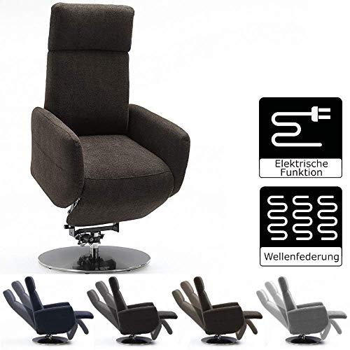 Cavadore TV-Sessel Cobra mit 2 E-Motoren und Aufstehhilfe / Elektrisch verstellbarer Fernsehsessel mit Fernbedienung / Relaxfunktion, Liegefunktion / bis 130 kg / M: 71 x 110 x 82 / braun