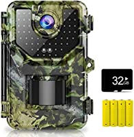 1080P 16MP Trail Camera, Hunting Camera with 120°Wide-Angle Motion Latest Sensor View 0.2s Trigger Time Trail Game Camera...