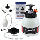 STARKIT PERFORMANCE Complete 3-liter brake and clutch bleeder kit with multi-brand adapters and brake fluid recovery bottle for bleeding the brake circuit.