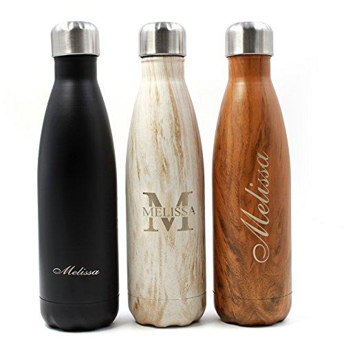 FunnyGuys - Botella de agua con aislamiento al vacío (madera)