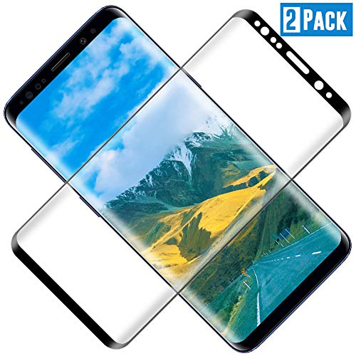 TOCYORIC Protector de Pantalla para Samsung Galaxy S8 Plus, 3D Curvo Full-Cover Cristal Templado Galaxy S8 Plus, Alta Definicion, 9H Dureza, Vidrio Templado para Samsung S8 Plus[2 Pack]