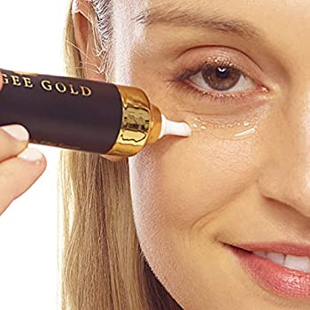 Weegee Gold Instant Face Lift Syringe for Anti-Aging - with Resveratrol Retinol Collagen and Vitamins A C and E Non-Invasive Wrinkle Filler Serum for Eye Wrinkles Neck Skin and Dark Spot Remover