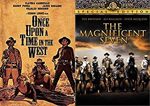 Classic Western Stories With All The Stars: The Magnificent Seven + Sergio Leone's Once Upon A Time In The West 2 DVD Bundle Fonda McQueen Bronson