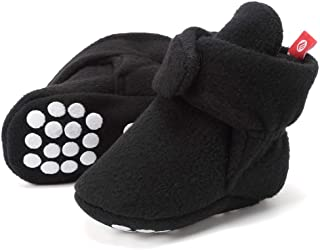 b190924ddff FANTINY Newborn Baby Cozy Fleece Booties with Non Skid Bottom