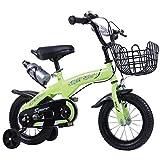 Bici del cabrito ajustable, ultraligero bicicletas Niños, Niños Freestyle bicicletas, bicicleta portátil infantil, con asiento regulable en altura y manillar, neumáticos inflación libres EVA 14 inch
