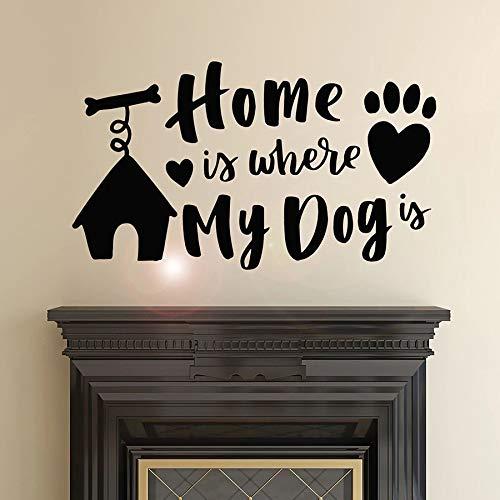 El hogar es donde se cita a mi perro mascota amor frase inspiradora decoración