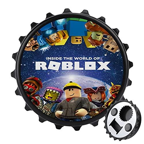 Roblo-x - Abrebotellas de acero inoxidable para cerveza, bonito imán para nevera, apto para bares, fiestas, talla única