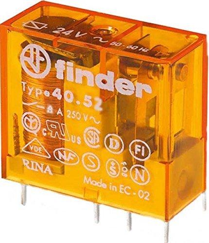 Finder Steck/Printrelais 230 V AC, 2 W, 8 A, 1 Stück, 40.52.8.230.0000 (2 Stück Steck-/Printrelais)