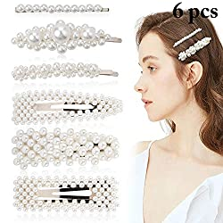 50%OFF Pearl Hair Pins, Fascigirl 6PCS Pearl Hair Accessories