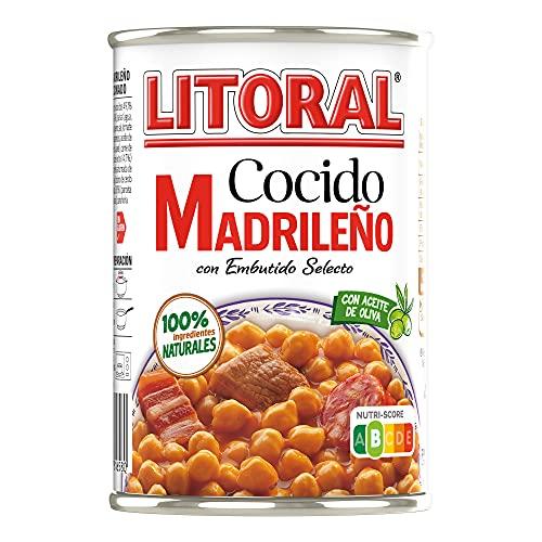 LITORAL Plato Preparado de Cocido Madrileño, Sin Gluten, 425 g
