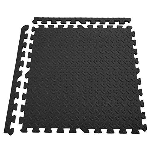 Generic Schutzmatten Set 6 Puzzlematten je 60 x 60 x 1 cm - Bodenschutzmatten | Unterlegmatten | Fitnessmatten für Bodenschutz | Rot/blau/grün/schwarz Wählbar (6 Stück)