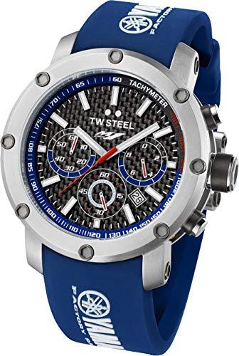 TW Steel Herren Analog Quarz Uhr mit Kautschuk Armband TW-925