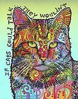 大人のためのダイヤモンド絵画キットダイヤモンドアート5Dペイントダイヤモンド付きDIY絵画キット猫の言葉宝石アートドリルスクエア40×50cmで数字でペイント