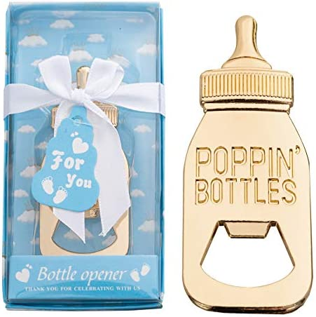 8pcs Baby Bottle Opener Favors Baby Shower Favors Gifts Decorations And Souvenirs 8 blue product image