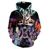 Sweatshirt Long Sleeve for Men Women,Dragon Ball Super Saiyan Monkey King 3D Printed Hoodie, Unisex Sweatshirt-We-1383_Xxxxl