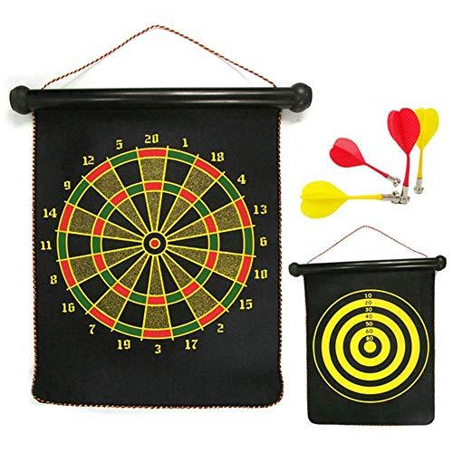 BESISOON Eltern-Kind-Interactive Toys Magnetische Dartscheibe-Sets 8 Reversible Dart-Rollen Doppelseitiges Bullseye-Spiel Magnetische Sicherheit Dartscheibe Kinder Familie Freizeit Sport