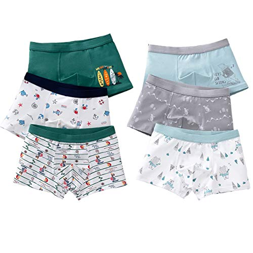 LeQeZe Boys Boxer Shorts 6 Pack Toddler Children Underwear Kids Briefs...